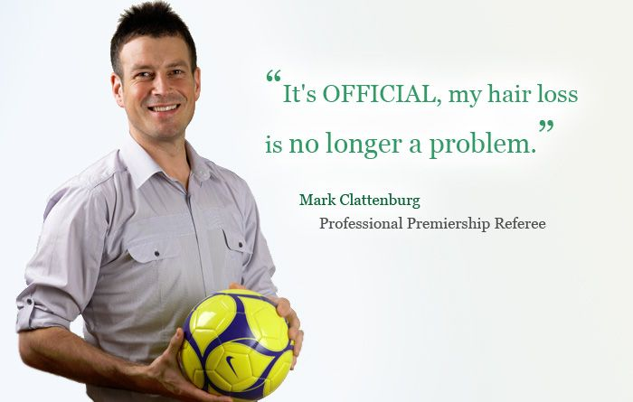 Not a problem? Clattenburg reckons he's rectified his receding hairline, it's just the day job that needs sorting now.