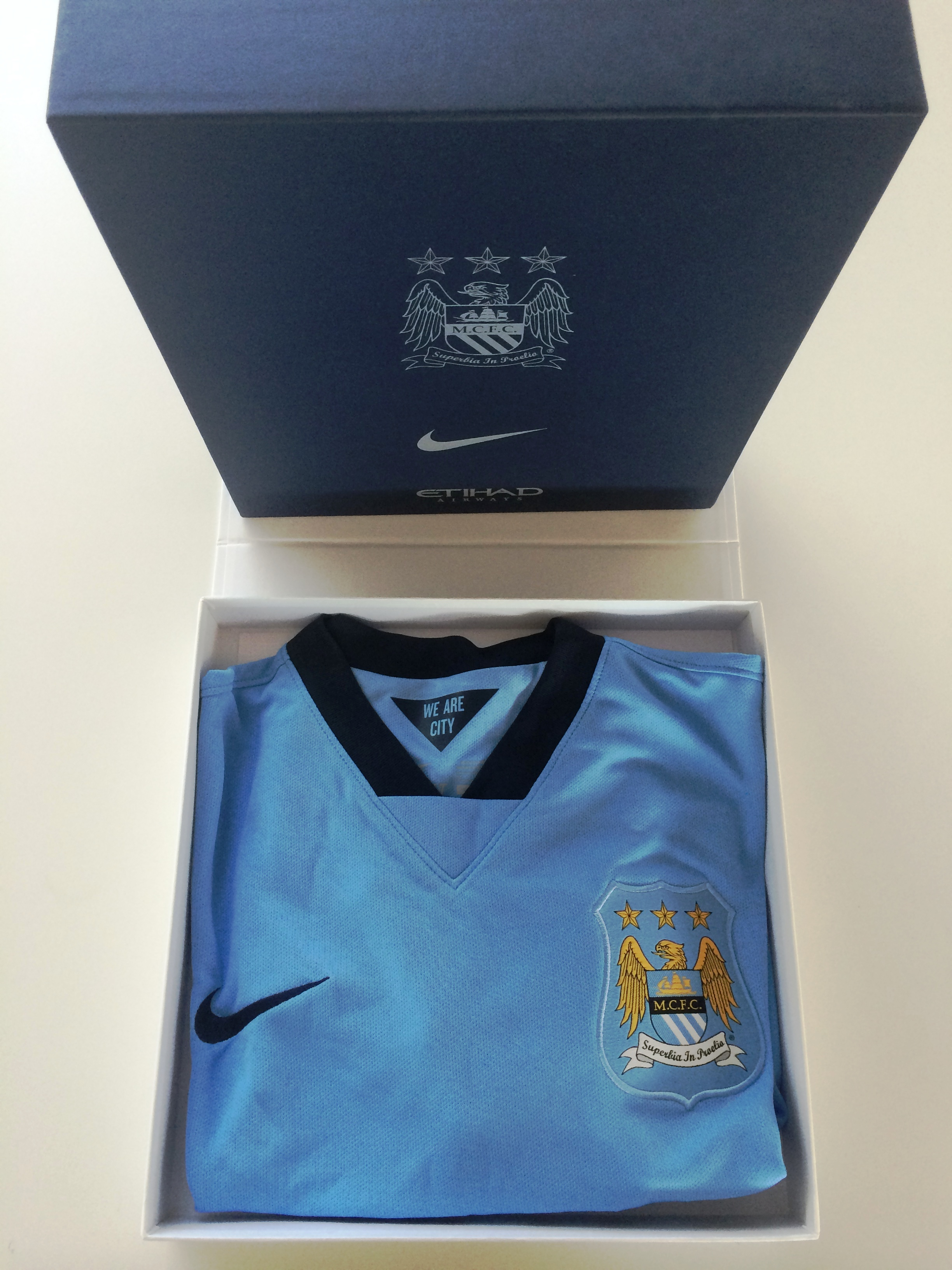 Win with Read But Never Red & Etihad Airways - a boxed MCFC home shirt awaits the winning entry.