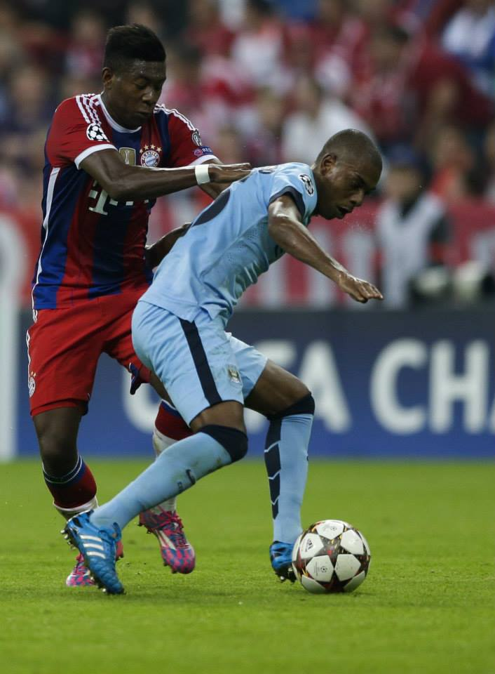 Tireless - Fernandinho did a double shift in City's midfield. Courtesy@MCFC