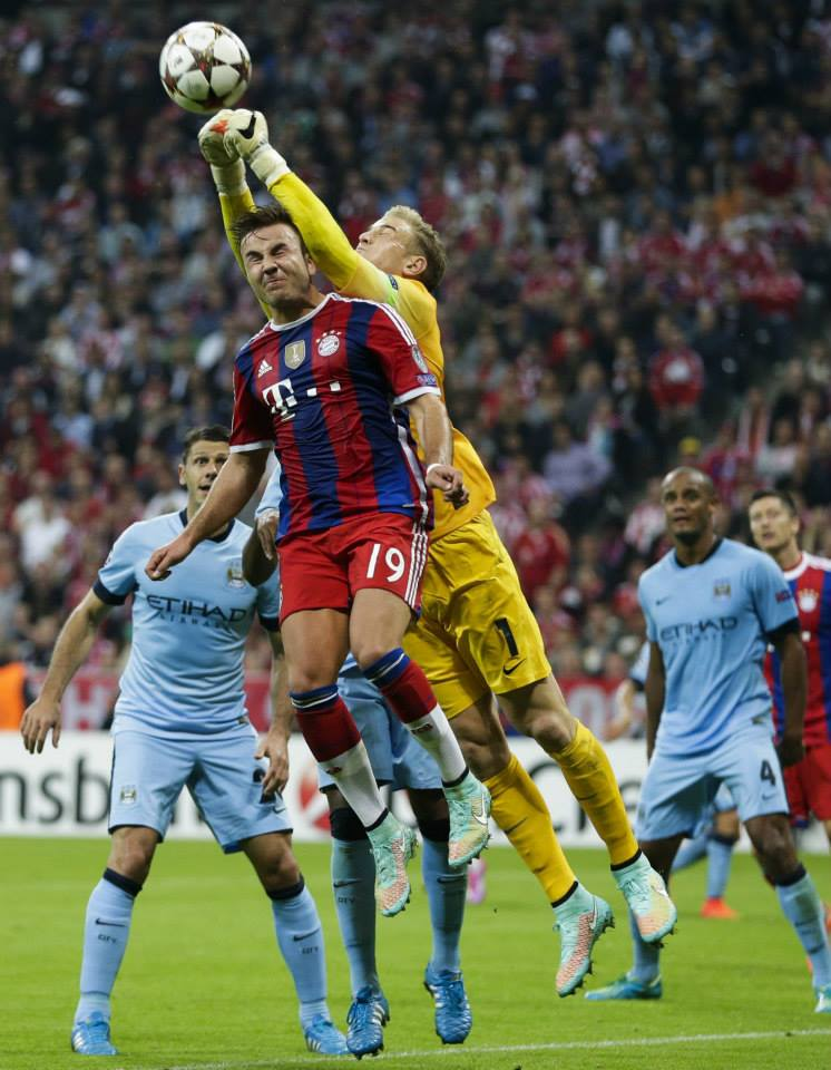 The Joe Show - Hart clears City's lines in Munich. Courtesy@MCFC