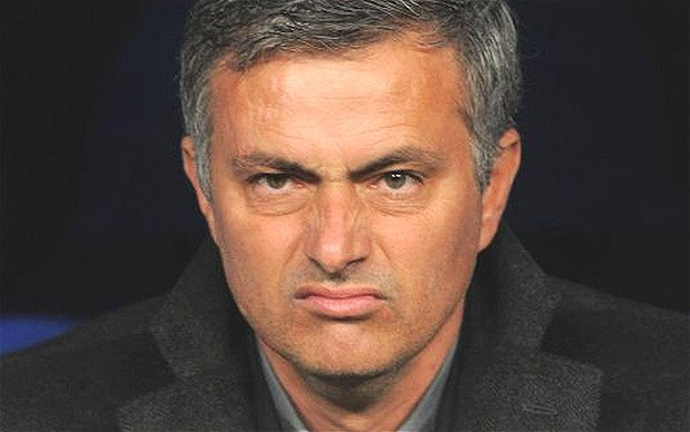 Sour face - City wins over Arsenal and Chelsea this month would stick in the throat of gobshyte Jose.