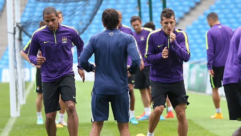 One in & one out - Jovetic is ready to return against Roma but Fernando will have to wait until Villa. Courtesy@MCFC