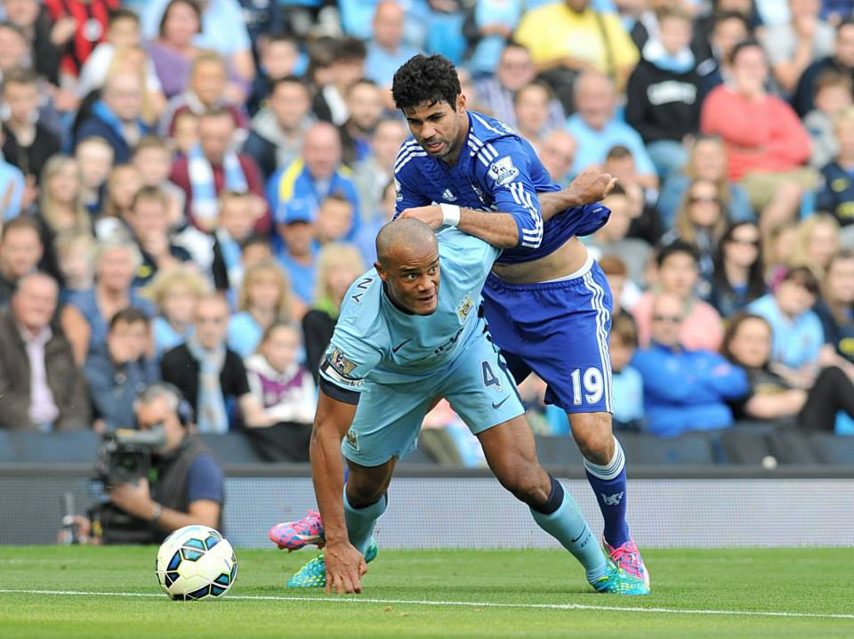 Neutered - Costa hardly had a look in with Kompany and Mangala playing superbly. Courtesy@MCFC