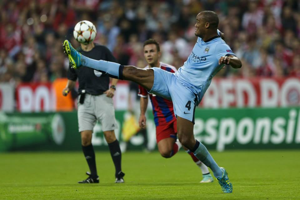 Valiant defence - Captain Kompany and his men couldn't quite hold on in the Allianz Arena. Courtesy@MCFC