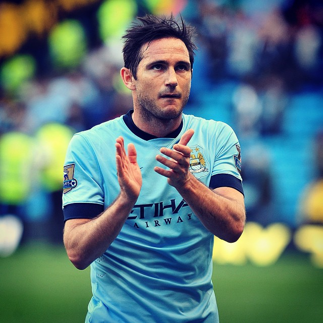 Mixed emotions - Super Frankie Lampard returns to Chelsea today, but in sky blue not royal blue. Courtesy@MCFC