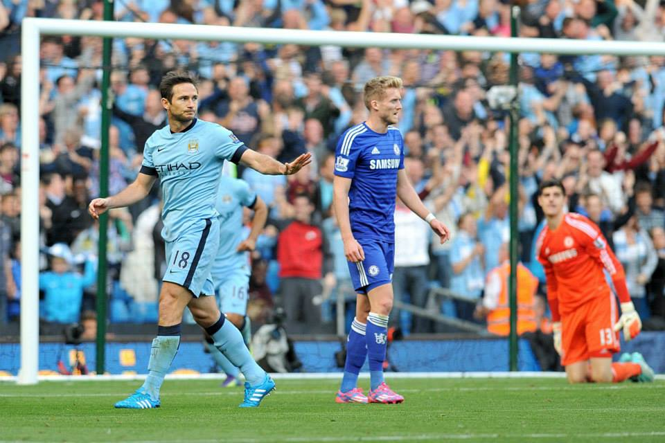 Respect - Lampard declined to celebrate his goal against his former club. Courtesy@MCFC