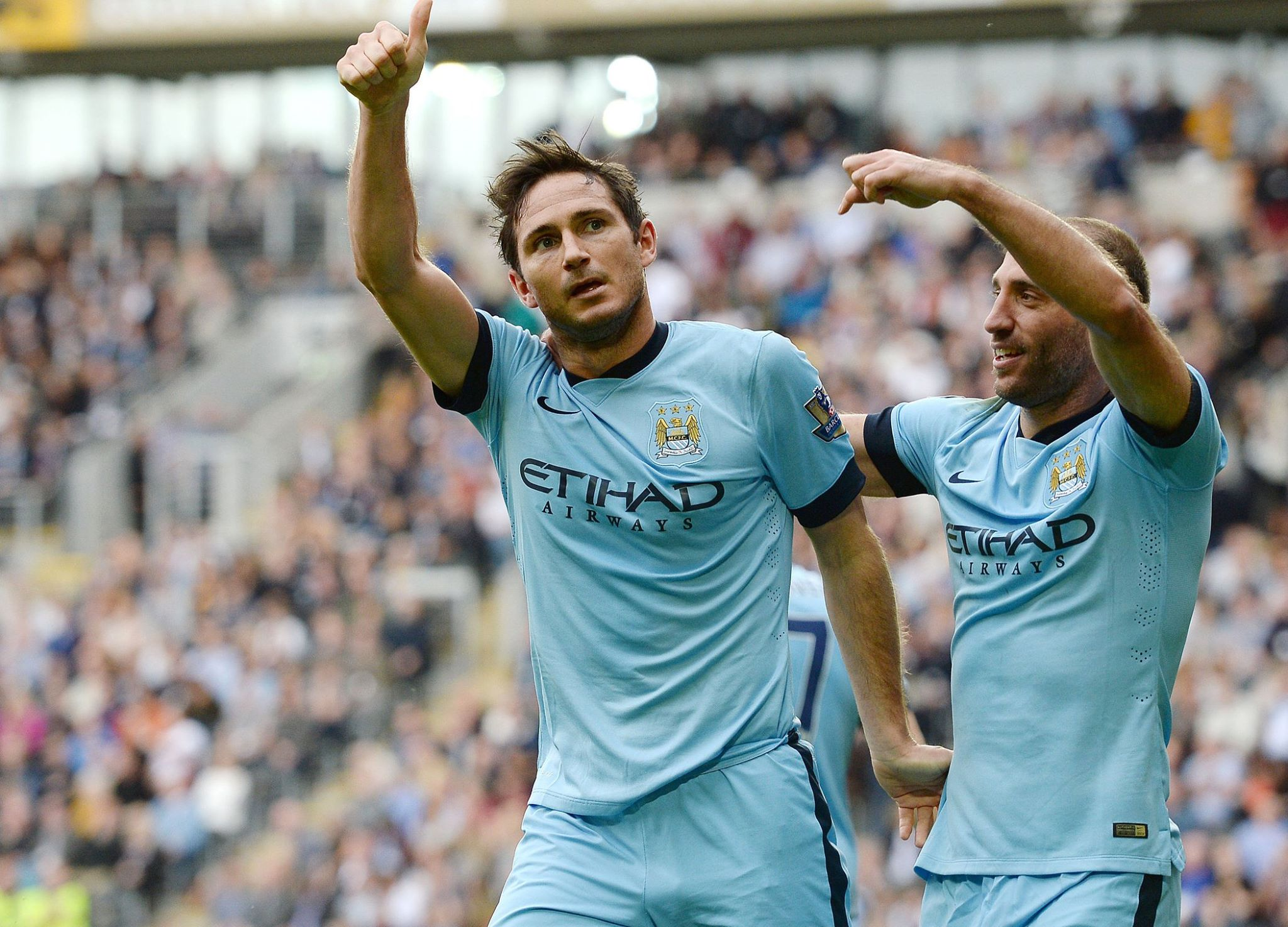 Super Frankie - Thumbs up on the fitness front. Courtesy@MCFC