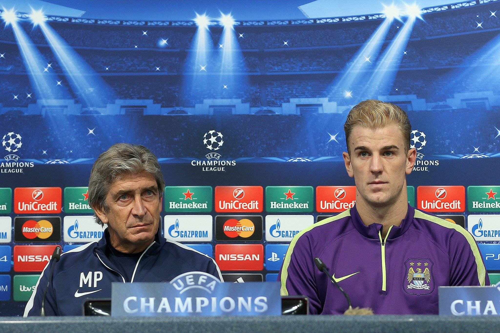 Keep it clean - if Joe Hart and City can hold Barcelona at bay on Tuesday night, Manuel Pellegrini could oversee a famous win at the Etihad. Courtesy@MCFC