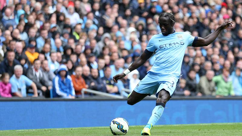 Bad day - Bacary Sagna won't have enjoyed his debut. Courtesy@MCFC