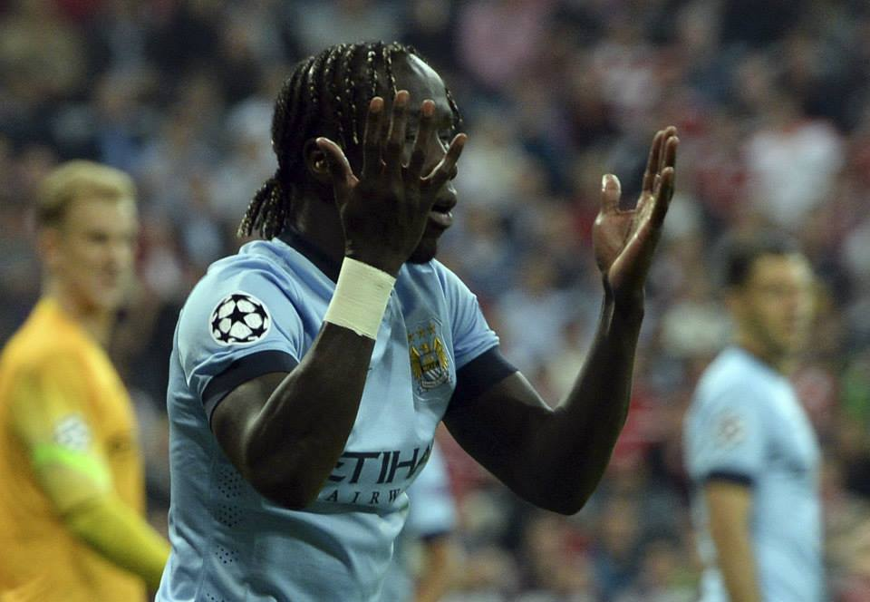 Tough night - Sagna stepped in for the suspended Zabaleta. Courtesy@MCFC