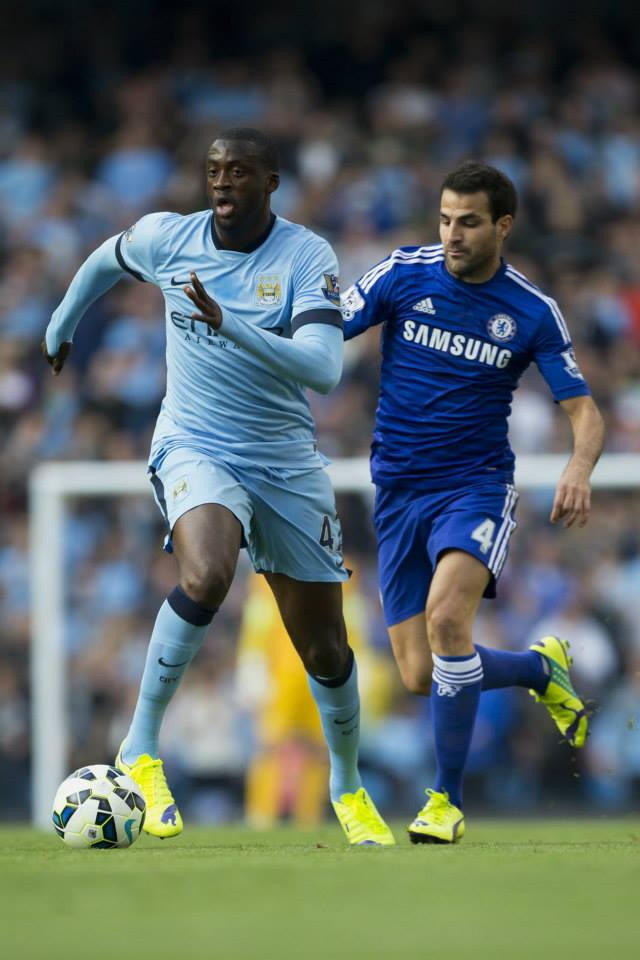 Focused - Yaya was back on point, fully committed to City's cause. Courtesy@MCFC