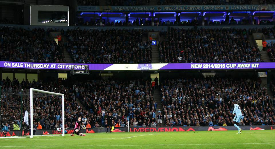 On the spot - Captain Yaya led the team, executed the penalty and was then withdrawn to fight another War of the Roses against Hull on Saturday. Courtesy@MCFC