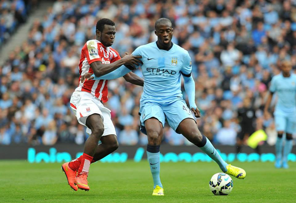 Best of a poor show - Yaya came closest to scoring for City. Courtesy@MCFC