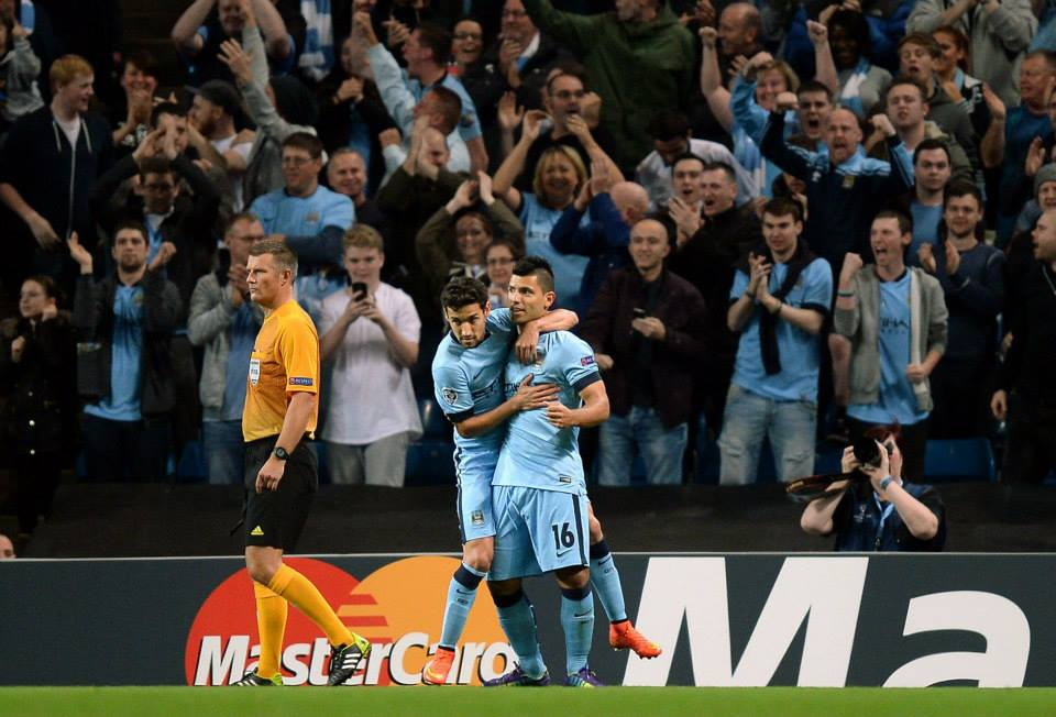 Early break - City's 4th minute goal celebrated by Sergio and Jesus seemed a long time ago by the final whistle. Courtesy@MCFC