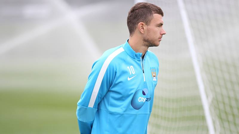 Edin the line - Dzeko should be part of a twin strike force with Sergio Aguero. Courtesy@MCFC