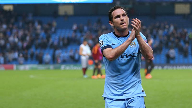 Take a bow - Lampard has been superb in his short spell with City. Courtesy@MCFC
