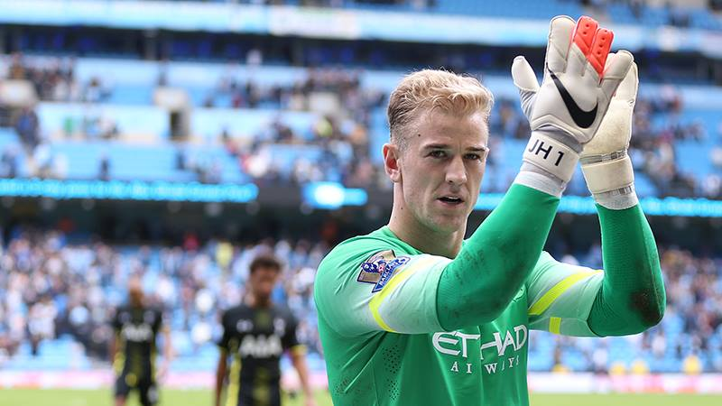 Great form - Joe Hart was forced into some tremendous saves as City won 4-1. Courtesy@MCFC