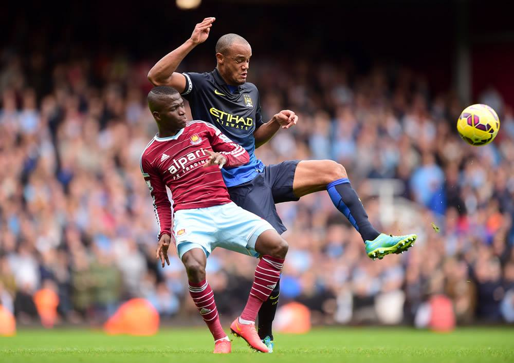 Irritating Kompany - West Ham speedster Valencia caused havoc for Vincent & Co. Courtesy@MCFC