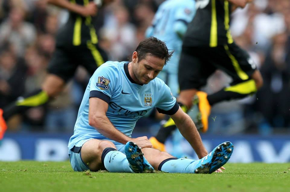 Scan scrutiny - City have still to determine the extent of Lampard's injury. Courtesy@MCFC