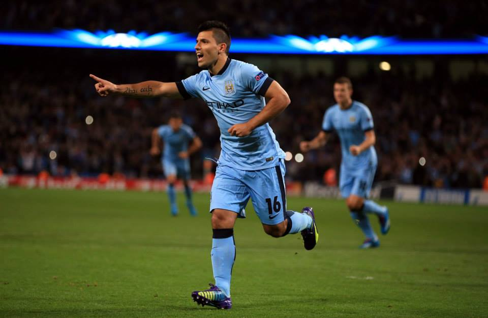 Sergio celebration. Courtesy@MCFC