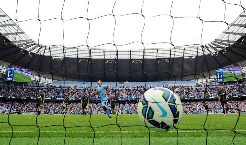 Get netted - Sergio nets one of his three penalty opportunites. Courtesy@MCFC