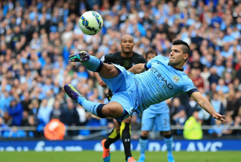 Dramatic but not fruitful - Sergio misses with the rebound after Lloris' penalty save. Courtesy@MCFC