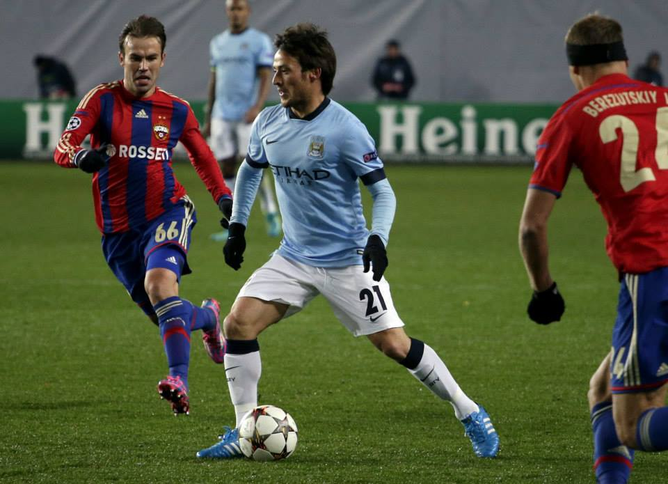 Merlin in Moscow - Even the magical David Silva couldn't help City conjure a win against CSKA. Courtesy@MCFC