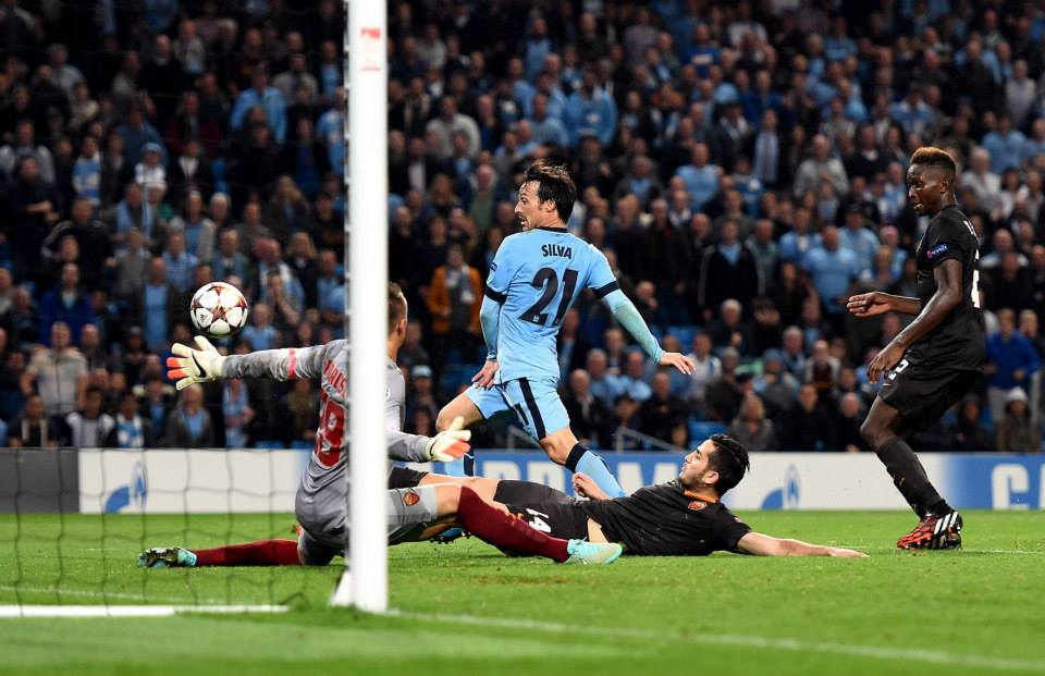 Spanish steps - Silva nearly won the home game with Roma in added time. Courtesy@MCFC