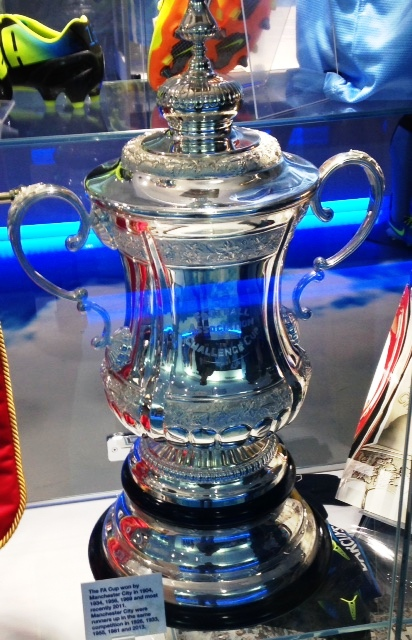 Trophy time - City have their own FA Cup at the Etihad.