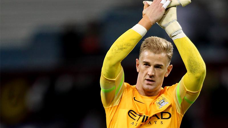 Glove up - Joe Hart is in with a chance of winning the Golden Glove for clean sheets in the Premier League. Courtesy@MCFC