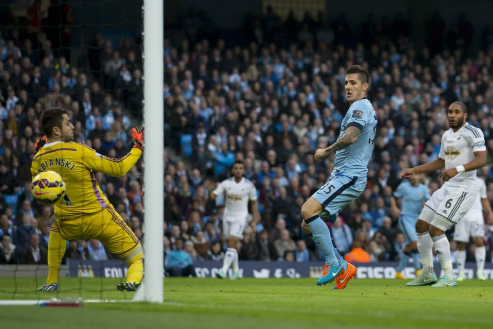 The leveller - Jovetic squared things up at 1-1. Courtesy@MCFC