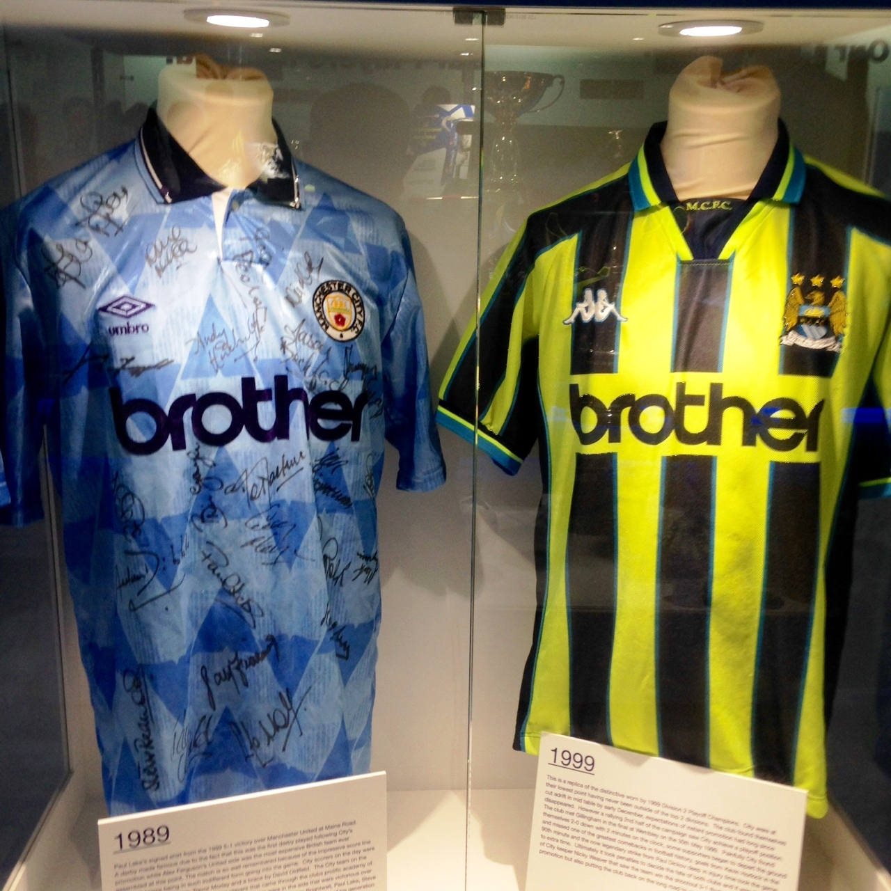 Brothers in Arms - City's battle colours from 1989 & 1999.