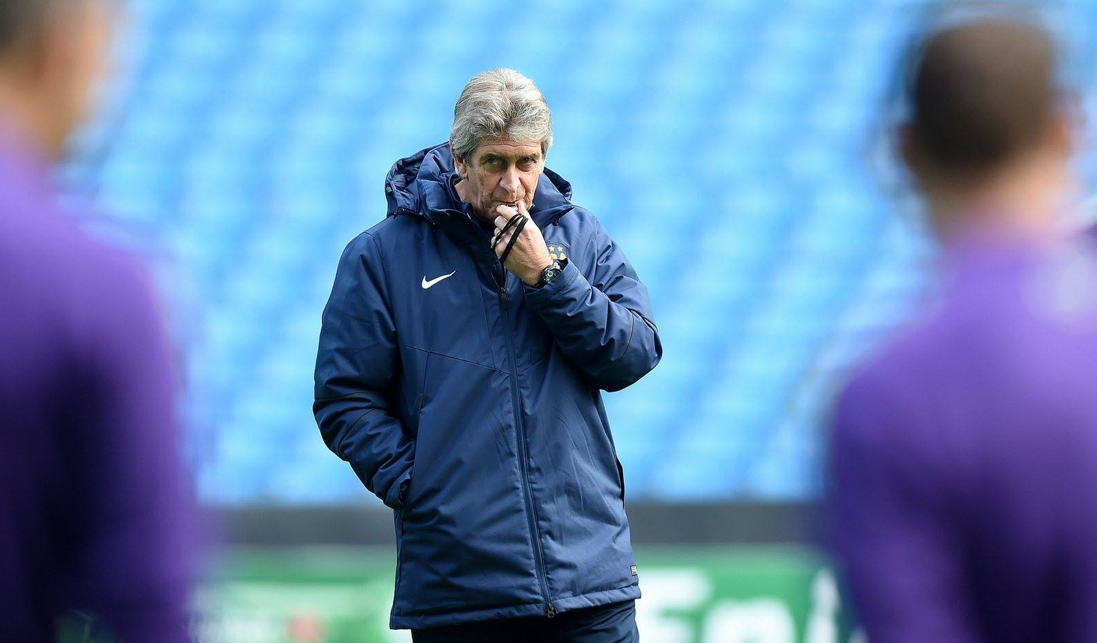 Blowing the whistle on under achievement - Manuel must get his team working harder. Courtesy@MCFC