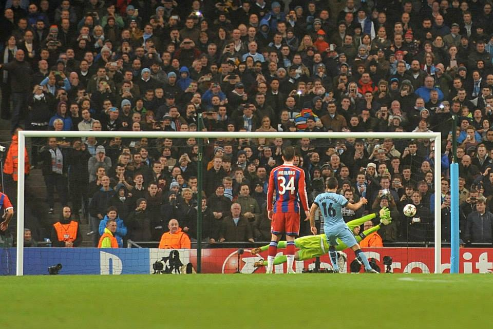 Paying the penalty - Sergio was spot on. Courtesy@MCFC