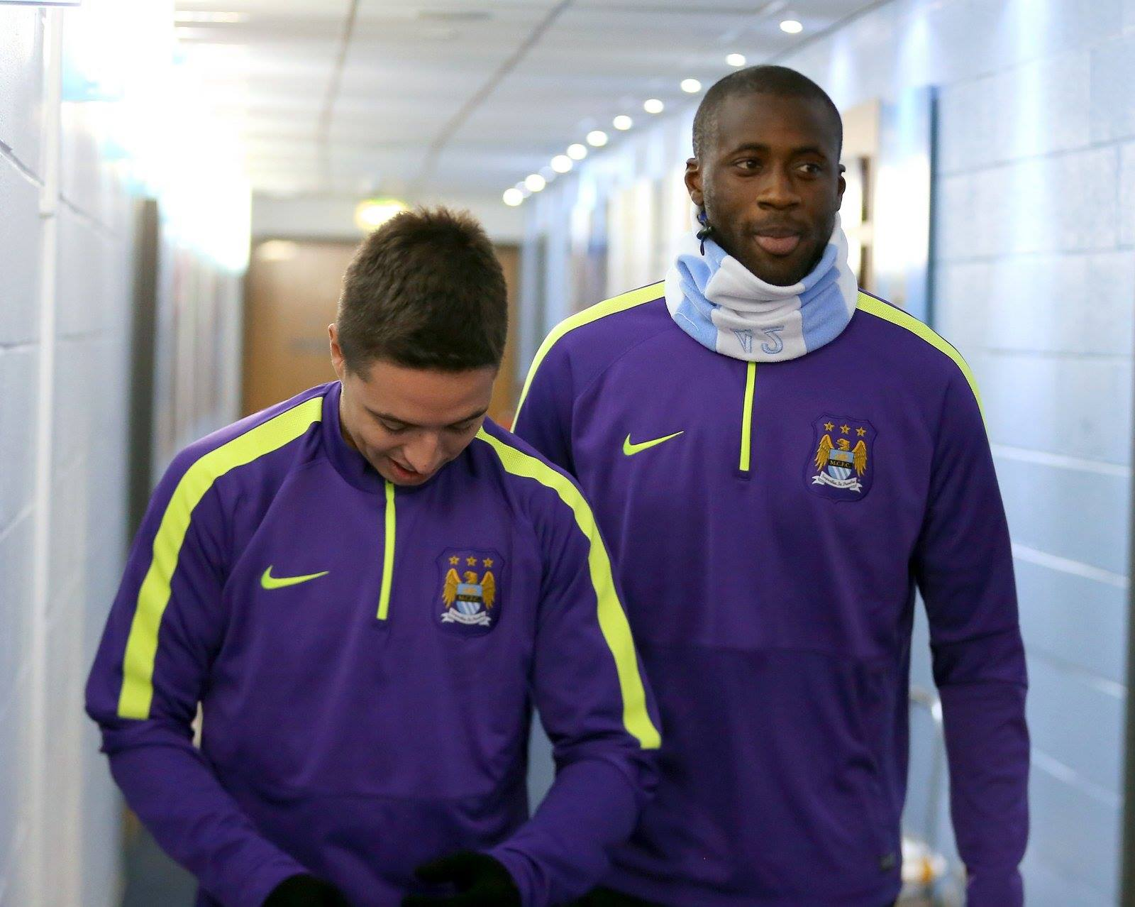 Wrap up - on a cold Manchester night Yaya and Samir need to give the Russians a red hot roasting. Courtesy@MCFC
