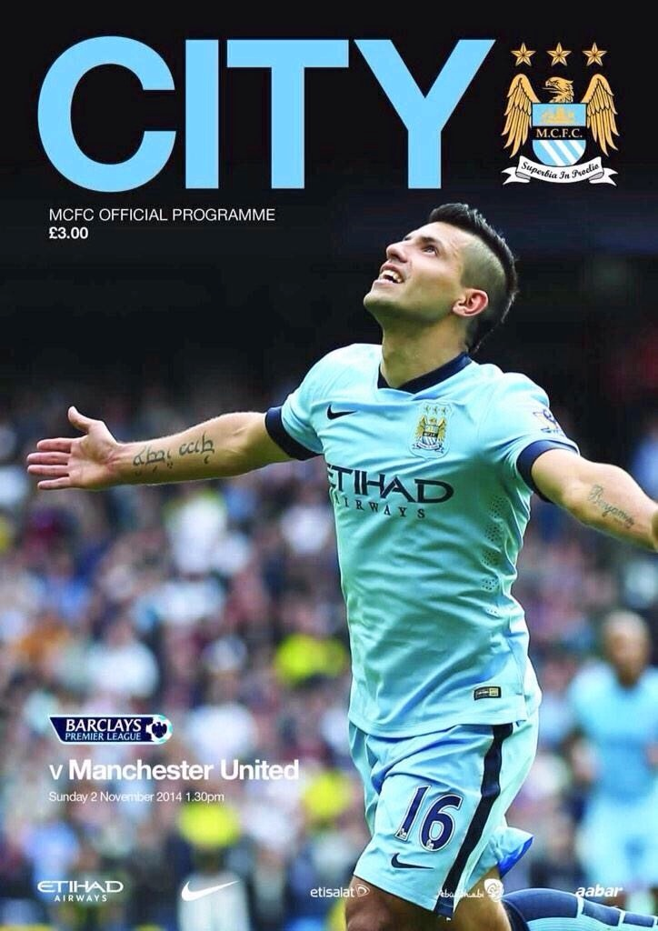 Get with the programme - Come on Sergio, let's make it a derby day to celebrate. Courtesy@MCFC