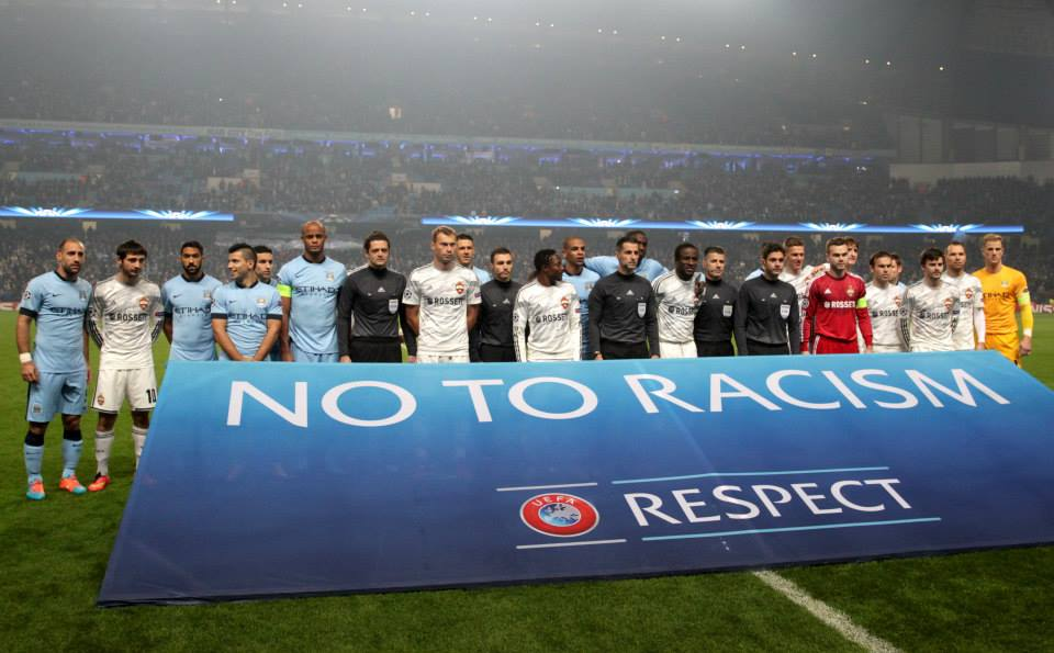 UEFA hypocrisy - paying lip service to kicking out racism - what a rotten organisation, corrupt to the core. Courtesy@MCFC