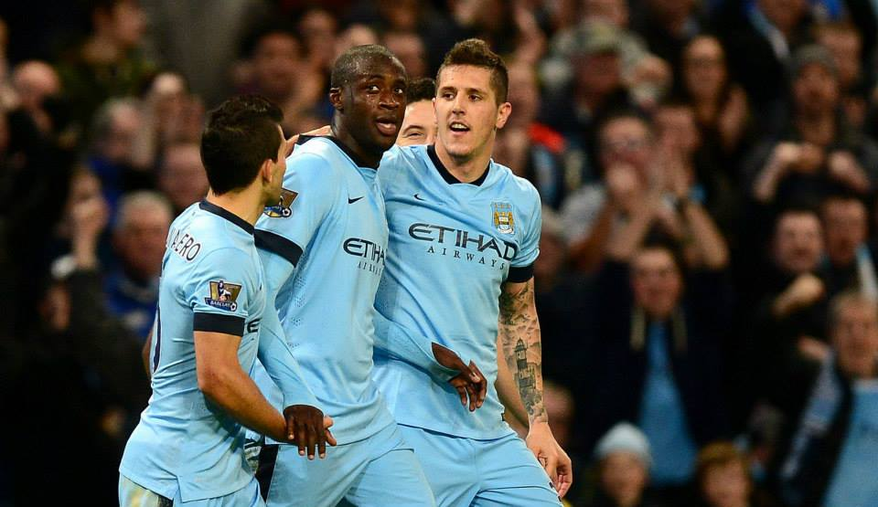 Scoring duo - Yaya and Stevan were on target for City. Courtesy@MCFC