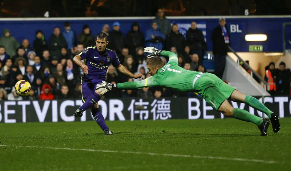 The Equalizer - Super Sergio makes it 2-2 the last time the two teams met at Loftus Road. Courtesy@MCFC