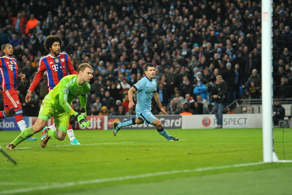 Blitzed - Sergio terrorized Manuel Neuer - the best keeper in the world. Courtesy@MCFC