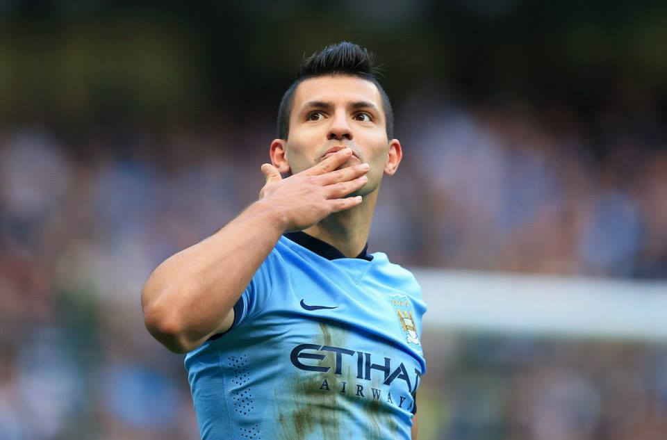 So near yet so far - Sergio's strike hit the Hull City bar. Courtesy@MCFC