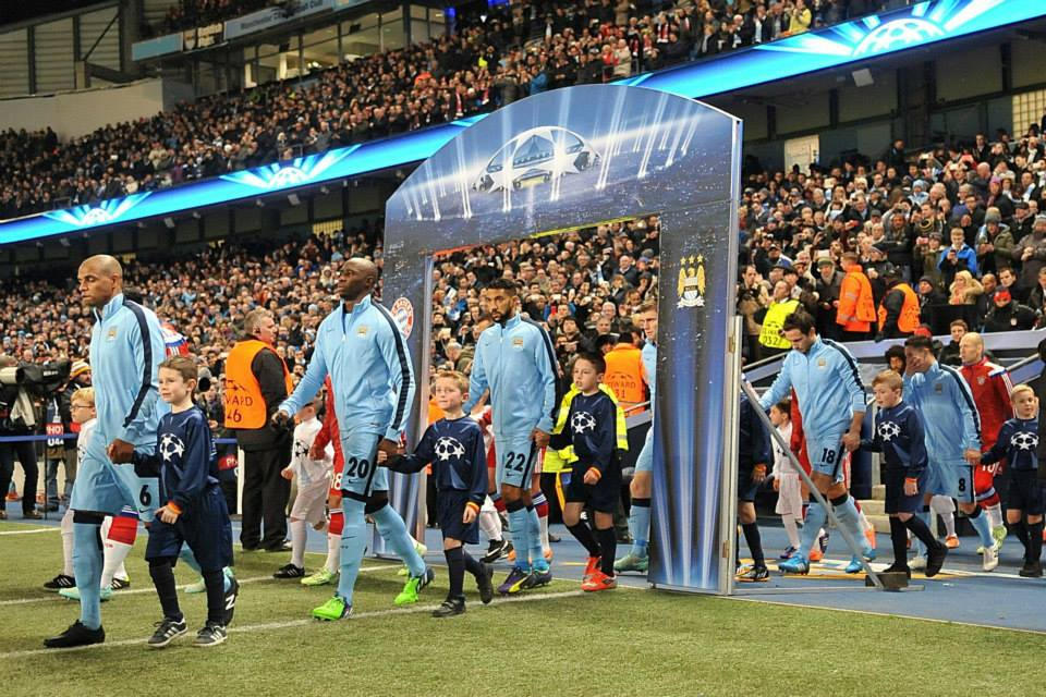 Entering the fray - Champions League gladiators - next stop Rome. Courtesy@MCFC