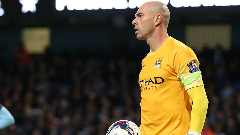 Wonky - It all went wrong for Willy Caballero & Co against Newcastle. Courtesy@MCFC