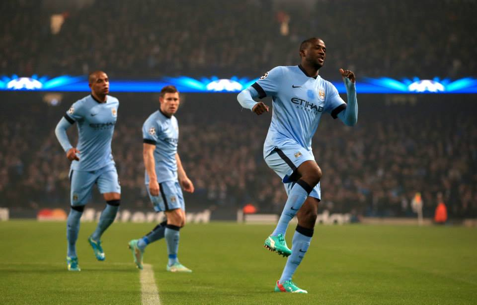 Hero to zero...again - Yaya scored a cracker before seeing red. Courtesy@MCFC