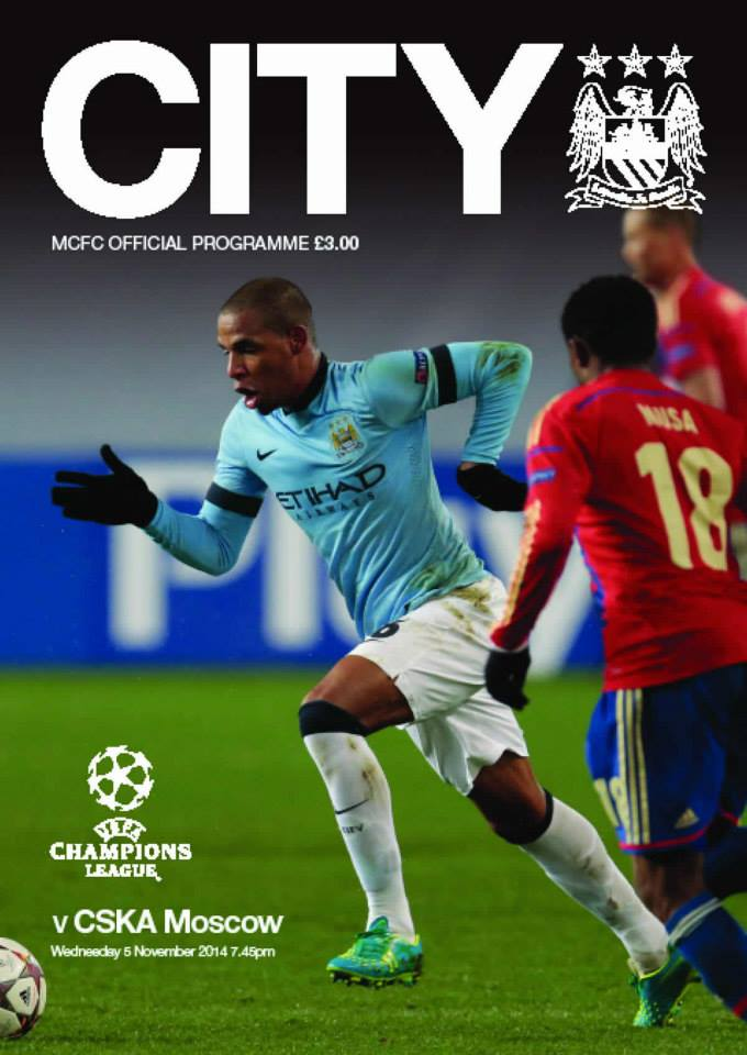 Stick with the programme - Fernando will need to cover more than the match day edition to see off CSKA tonight. Courtesy@MCFC
