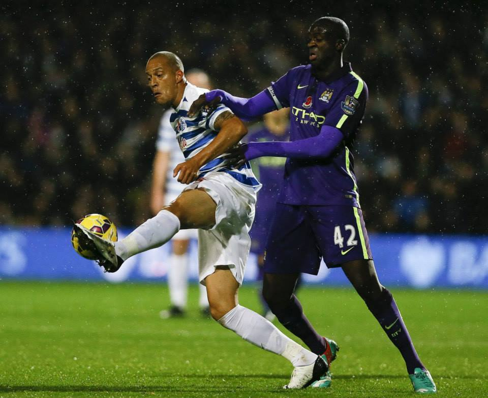 Rain Man - Yaya's superb 50 yard pass set up Sergio's equaliser away at QPR in November, but now the storm clouds are gathering for the Ivorian. Courtesy@MCFC