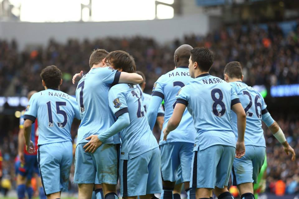 Team spirit - City are battling to great effect as the injuries pile up. Courtesy@MCFC