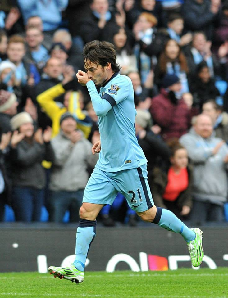 Silva lining - City were without any strikers but Merlin conjured up two goals. Courtesy@MCFC