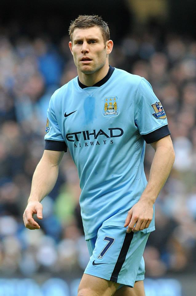 Centre stage - James Milner gave his all for the cause as a makeshift striker. Courtesy@MCFC