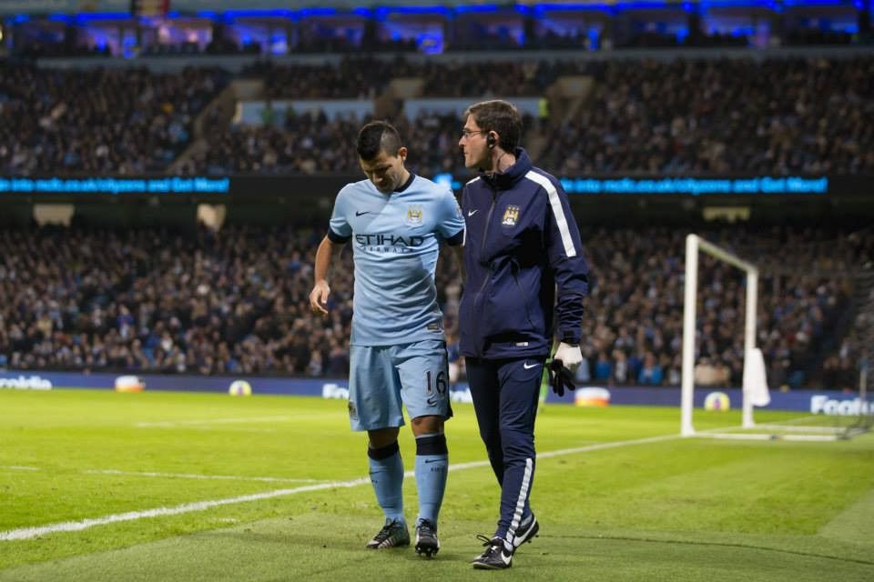 Time out - Sergio's injury absence has impacted on City's goals haul this season. Courtesy@MCFC